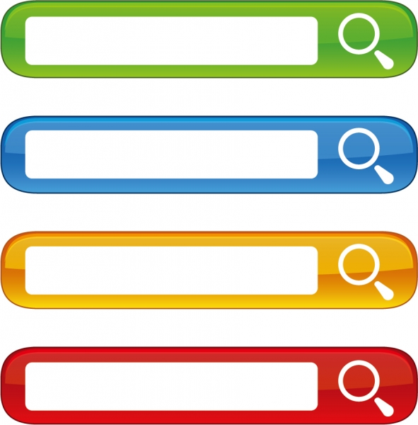 カラフルな検索ボックス web design Free Colorful Website Search Boxes