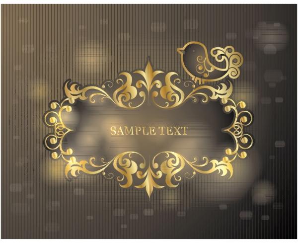 ヨーロッパ調の飾り罫 european pattern background