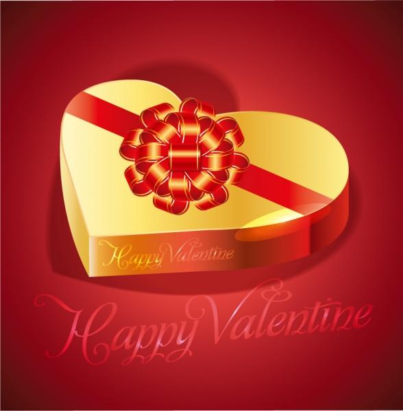 バレンタインデーのハート型ギフトボックス heart-shaped gift box