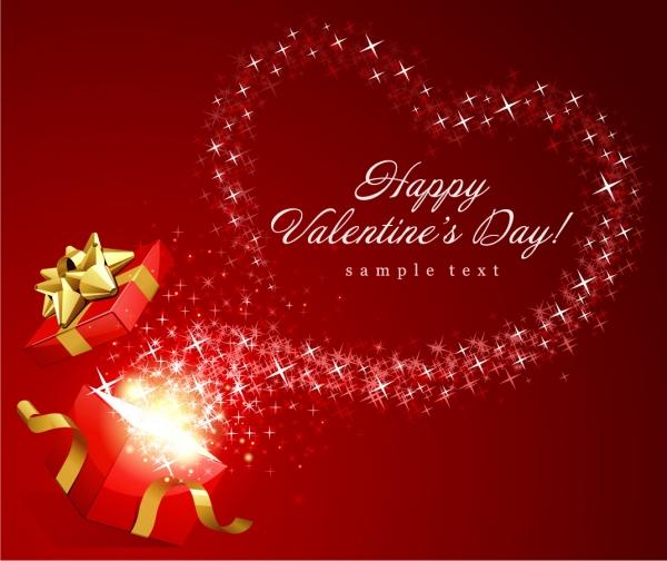 バレンタインデー ギフトボックスのクリップアート Heart valentine day gift ribbon and clip art4