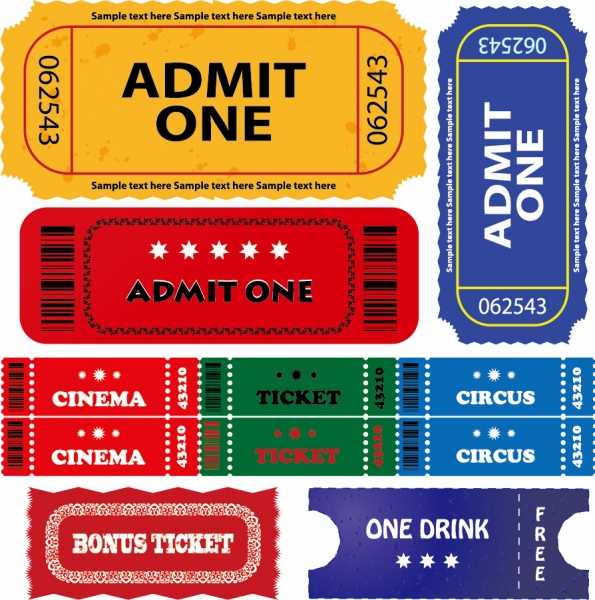 映画チケットのテンプレート american movie ticket clip art1