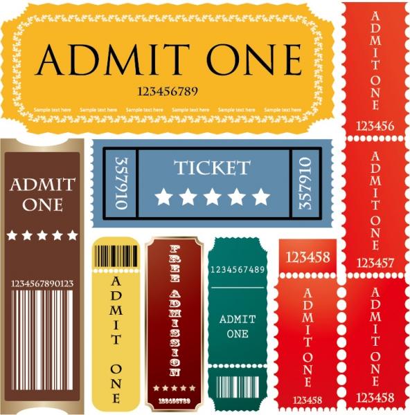 映画チケットのテンプレート american movie ticket clip art3