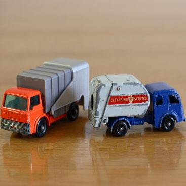 おもちゃのゴミ収集車