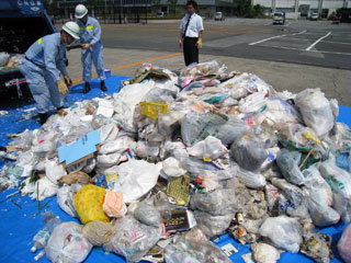ゴミ一回の回収量