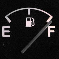 満タンのガソリンメーター