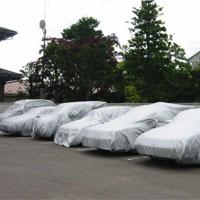 火山灰対策の車カバー