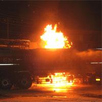 ガソリンスタンドの爆発事故