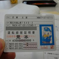 運転経歴証明書の見本