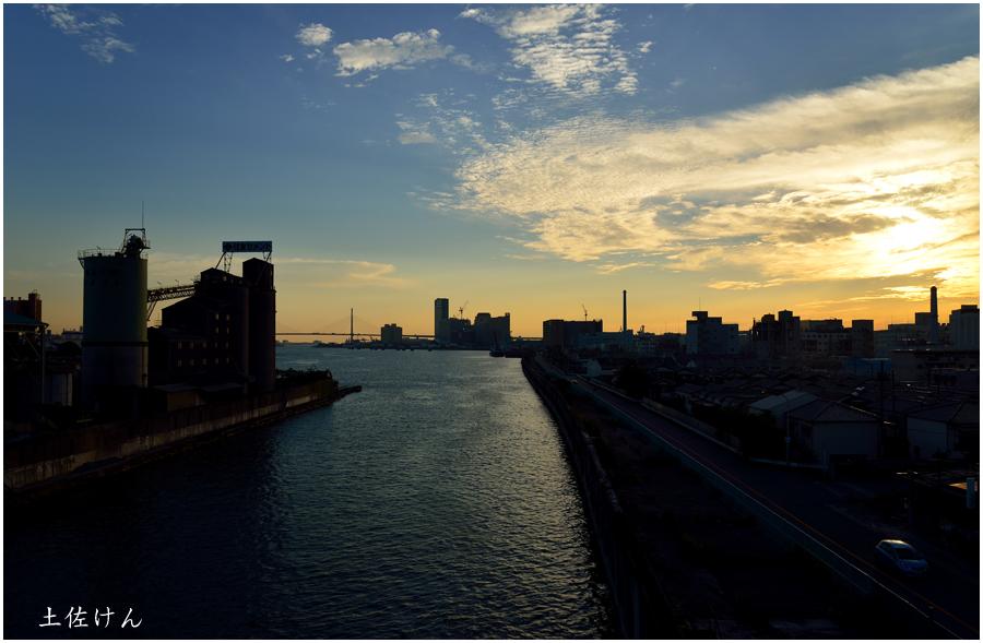 安治川大橋からの夕景1