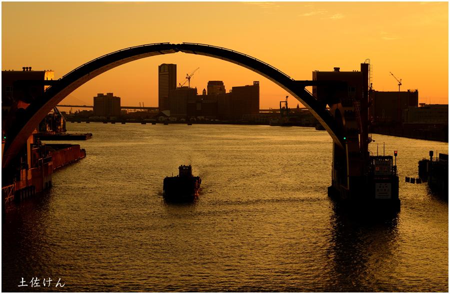 安治川大橋からの夕景2