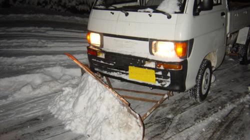 除雪仕様軽トラ