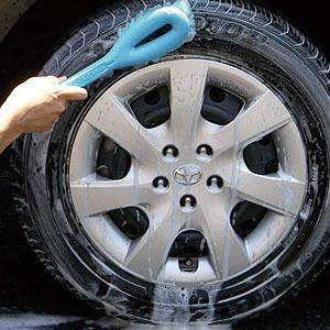 タイヤ洗う