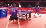 フランス選手の練習風景 世界卓球2013パリ