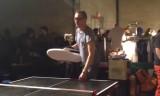 【技術】 海外では巨大シューズで卓球をする(笑)