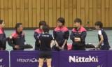 【卓球】 石川佳純VS肖萌4 日本リーグ2013前期