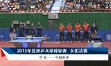 【卓球】 中国VS香港(女子)アジア選手権2013