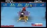 【卓球】 王励勤VS樊振東(団体)全中国運動会2013