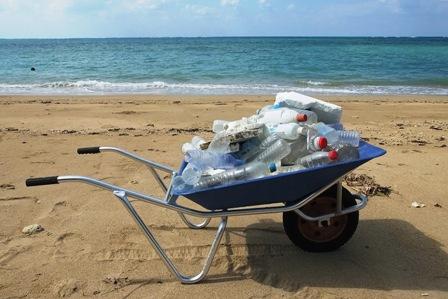 ゴミ集め一輪車