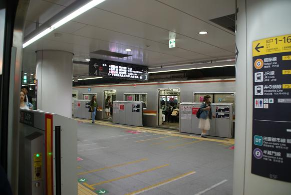 東横線渋谷駅地下ホーム