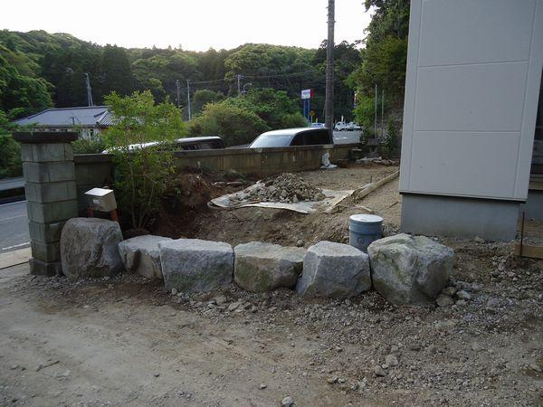 石組途中左側