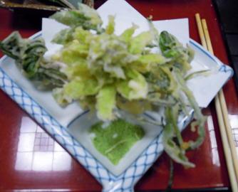 山菜のてんぷら9