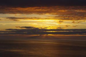オホーツクの夕日