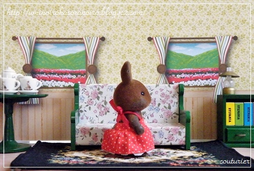 ウ-04ブラウンウサギ女の子