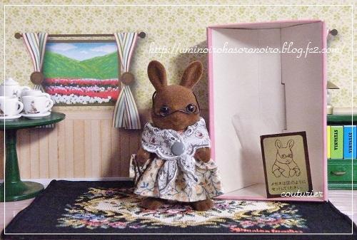 ウ-07ブラウンウサギおばあさん