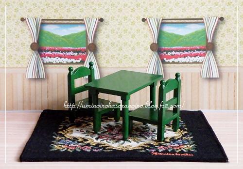 カ-01角テーブルセット