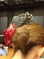 パキータ髪飾り着用