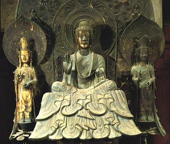 金銅釈迦三尊像