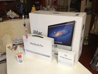 じゃーん。iMac と MacBookPro 、買っちゃったよ。