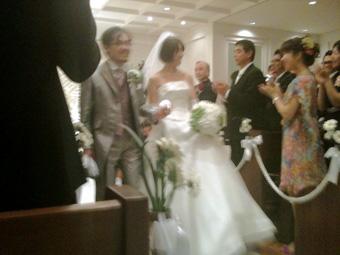 先日の土曜は友人の結婚式でありました。