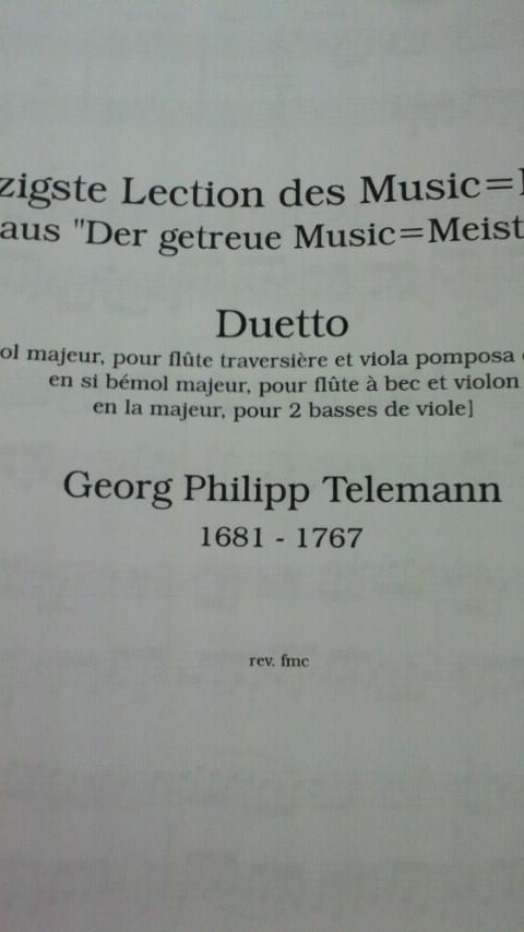 テレマンの二重奏曲