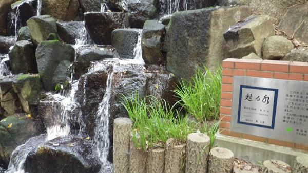 復活水の放流口