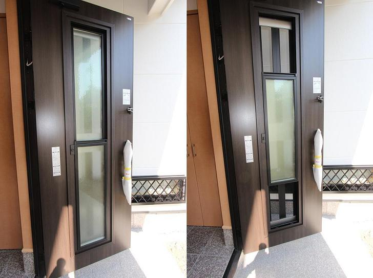 採風式の玄関ドア