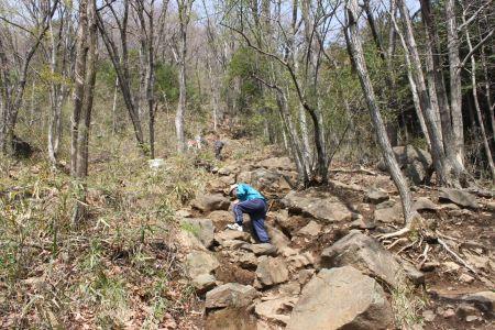 吾妻山の登り