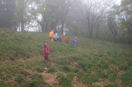 霧中の下り