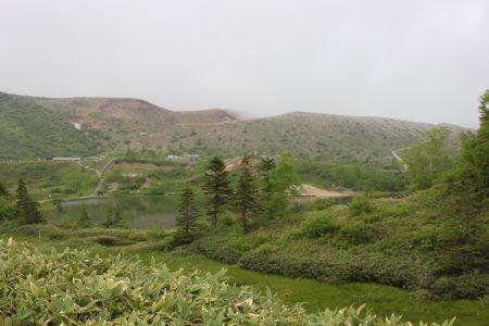 弓池と白根山