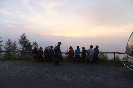日の出の観察