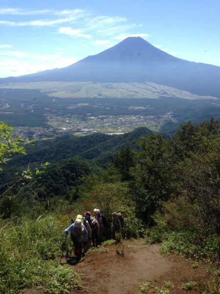 杓子山の急登