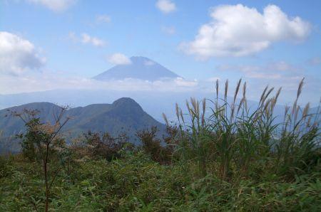 明神から富士山
