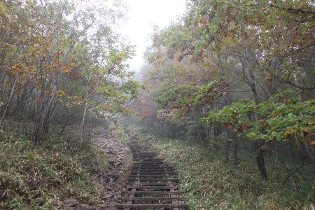 地蔵岳への登り