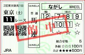 東京11R馬連