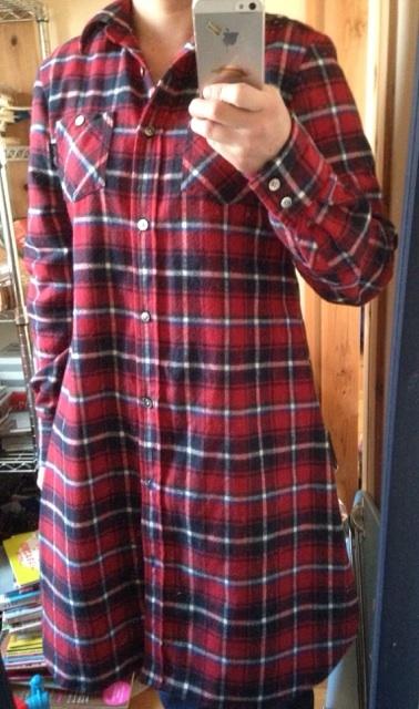 チェックシャツ4