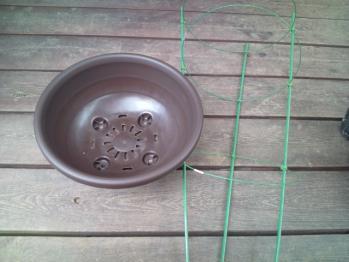 植木鉢と行燈
