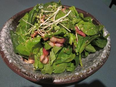 ホウレンソウのサラダ