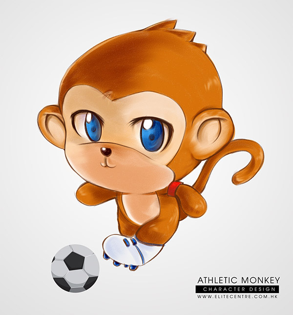 Character Design - Athletic Monkey (Footballer)