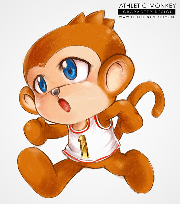 Character Design - Athletic Monkey (Runner)