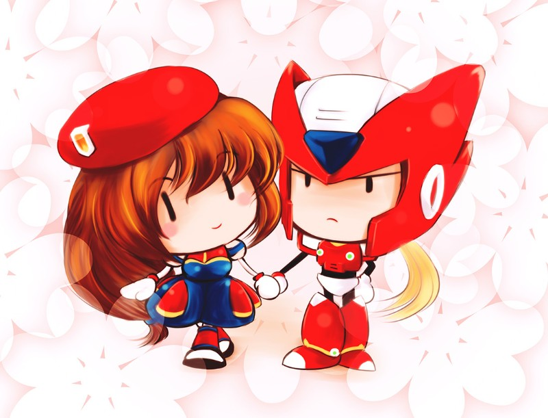 Megaman X4 - SD Iris & Zero Fan Art